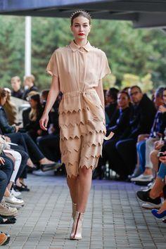 IMRECZEOVA SS18 nude silk dress 60 Degrees, Silk Dress, Runway, Nude, Shirts, Dresses, Fashion, Silk Gown, Cat Walk
