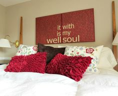 It Is Well With My Soul 24x24 2 piece Red Canvas by kisstheskyshop, $165.00