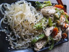 For the Love of Food!: Ginger and Sesame Stir Fry with Kelp Noodles (gluten free, soy free, dairy free, grain free)