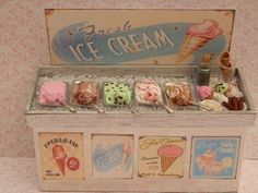 vintage looking ice cream display
