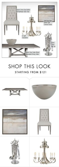 """""""Dining Room"""" by kathykuohome ❤ liked on Polyvore featuring dining room, diningroom, Home and holidays"""