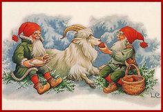 Lars Carlsson Swedish Christmas, Christmas Mood, Scandinavian Christmas, Vintage Christmas, Christmas Ideas, Merry Christmas, Christmas Illustration, Illustration Art, Christmas Knomes