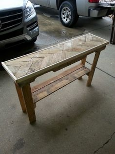 Pallet Wood Sofa Table In Chevron Pattern, $75 Plain And $90  Painted/stained Plus Shipping. Item #29 | Pinterest | Chevron Patterns,  Pallet Wood And Sofa ...