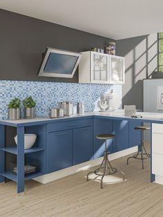 Hervorragend Blau Blau Blau Sind Alle Meine Farben. Durch Den Einsatz Von Farbe Kannst  Du In Deiner Küche Eine Ganz Andere Atomsphäre Schaffen.