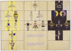 In 1922 Oskar Schlemmer, famed Bauhaus artist and choreographer, premiered the Triadic Ballet, an avant-garde dance performance that toured Europe in the Inspired by his own experience in the. Bauhaus, Theatre Costumes, Ballet Costumes, Degenerate Art, Opus, Bronze, India Ink, High Art, Color Theory