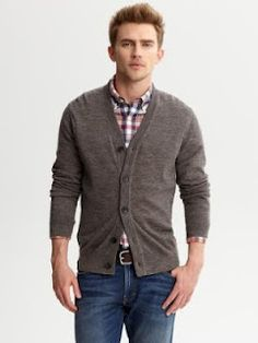 Cool Men's Cardigans With Elbow Patches from Banana Republic