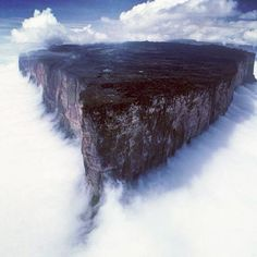 Mount Roraima, Venezuela - Highest point in country.