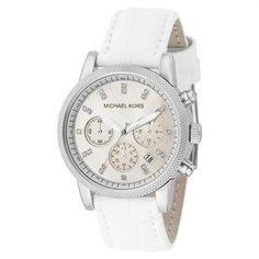 f80a66ea3 Michael Kors Watch, Women's Chronograph Ritz White Leather Strap - All  Watches - Jewelry & Watches - Macy's