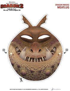 Free Printable Meatlug Dragon Mask