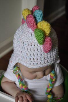 Girl Dinosaur Hat Crochet Rainbow Dino Hat by EmmaGraceDesigns4