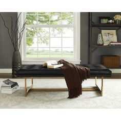 Hyannis Tufted Bench | Joss & Main