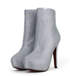 [$24.47]Ladies fashion boots rhinestone personalized glitter shoes CZ-4769