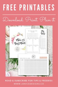 You can have an awesome month just by using these two free printables. Click and try it for yourself!