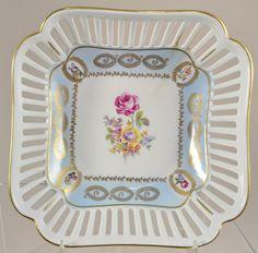 German porcelain reticulated basket