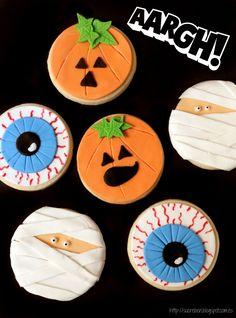 Halloween Treats For Kids, Halloween Goodies, Halloween 2, Halloween Cupcakes, Halloween Costumes, Dulces Halloween, Postres Halloween, Fall Cookies, Cupcake Cookies
