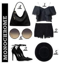 Monochrome Style by margaux-blouin on Polyvore featuring Rachel Zoe, Michael Kors, Eugenia Kim and Matthew Williamson