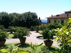 Trädgården tillhörande Villa Gamberaia i Toscana.