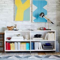 Lacquer Storage Bookcase #West Elm