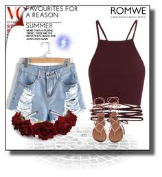 """ROMWE"" by besirovic ❤ liked on Polyvore"