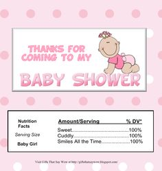 Free Printable Candy Bar Wrappers for Baby Showers...(boy or girl ...