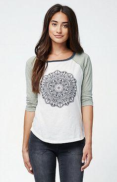 Mandala Mama Raglan T-Shirt