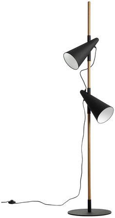 BoConcept. Напольный светильник Cone, дуб с черными металлическими абажурами и основанием. В173см. € 887