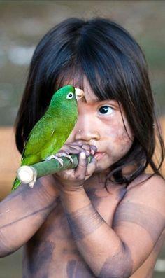 Young Amazonas, Gloria Alvarez, in Brazil • photo: Joe González on These Portraits