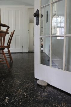 cape cod splatter painted floors
