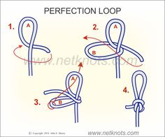 Perfection Loop - How to tie a Perfection Loop Fishing Knots Trout Fishing Tips, Fishing Knots, Fishing Lures, Fly Fishing, Sport Fishing, Fishing Reels, Survival Knots, Best Knots, Knots Guide
