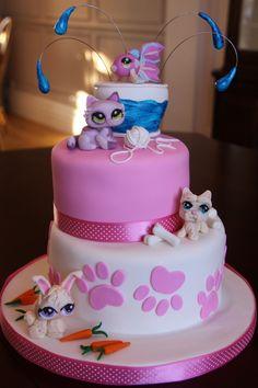 Littlest Pet Shop Cake A I Made For My Daughter  cakepins.com