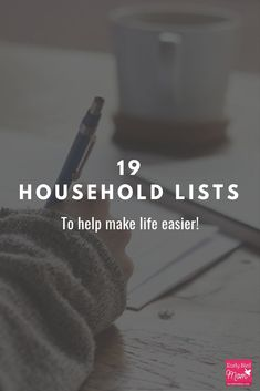 Check out these 19 household lists to make your life easier! There are chore charts, cleaning charts, printable grocery lists, and so much more! Keep your home on track using these simple checklists!#chorecharts #earlybirdmom #householdlists #cleaningchec