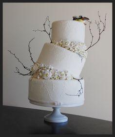 "Beautiful, Simplistic, Artistic wedding cake.  ""Winter Wonderland"" by HILDOOM on deviantart"