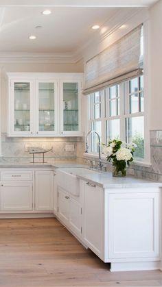 New kitchen window shelves diy woods Ideas Home Decor Kitchen, Interior Design Kitchen, New Kitchen, Home Kitchens, Kitchen Ideas, Color Interior, Kitchen Wood, Glass Kitchen, Soapstone Kitchen