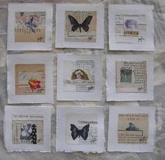 caterina giglio, mini works on paper, french paper series, La Dolce Vita