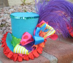 Mini Top Hat - DARCY - Top Hat, Birthday, Mad Hatter, Circus, Sweet shoppe shop party - Candyland - Photo Props - Krown Kreations
