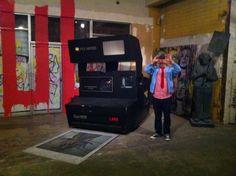 Giant Polaroid camera by MBW