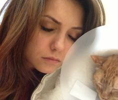 Nina has a really cute obsession with cats. Oh god I love this little angel