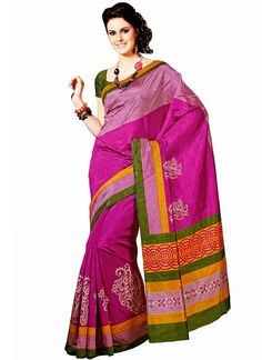 Invigorating Look Printed Raw Silk #Saree