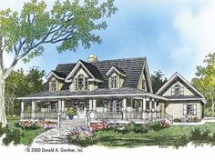 Floor Plans AFLFPW24849 - 2 Story Farmhouse Home with 4 Bedrooms, 2 Bathrooms and 2,482 total Square Feet