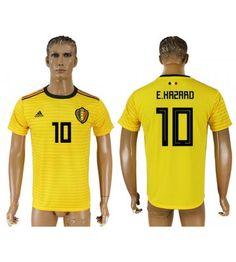 Belgien Eden Hazard 10 Auswärtstrikot WM 2018 Herren Eden Hazard, Polo Ralph Lauren, Polo Shirt, Sports, Mens Tops, Fashion, World Cup 2018, Men Wear, Sleeves