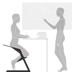 Ergonomic chair with unique design that keeps your back straight while you are working at standing desk. It can be also used for reading or meditation.