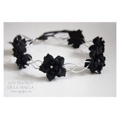 Floral Crown Flower Circlet Gothic Crown ❤ liked on Polyvore featuring accessories, hair accessories, flower garland, goth hair accessories, floral garland, lace hair accessories and crown hair accessories