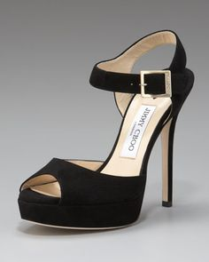 Linda Suede Ankle-Wrap Sandal by Jimmy Choo at Neiman Marcus.