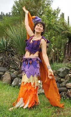 LotusFae outfit Merino wool and silk Handmade Felt, Felt Art, Faeries, Tie Dye Skirt, Merino Wool, Sari, Skirts, How To Wear, Outfits