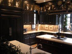 Old Kitchen with Dark Cabinets | Traditional Kitchen design by New York Interior Designer Anthony Como ...