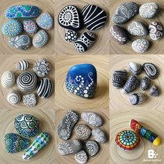 I like to paint my rocks with Acrylic Colors or Permanent Markers if I want monochrome patterns. Painted rocks are so easy and fun to make, and always
