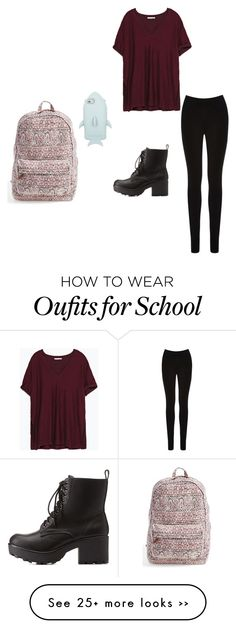 """""""Back to school #5"""" by karolina-ros on Polyvore featuring Zara, Oasis, Charlotte Russe, STELLA McCARTNEY and Billabong"""