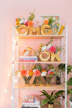 Say YAY! for a birthday, baby shower, wedding, or simply for every day. With an Oh Joy! YAY Vase Set in Gold, you can celebrate any and every occasion. Pastel Palette, Home Decor Inspiration, Decoration, Interior And Exterior, Playroom, Projects To Try, Sweet Home, Room Decor, Beautiful
