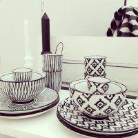 Coup de cœur du jour: l'art de la table Black&White de Monoprix - Marie Claire Maison