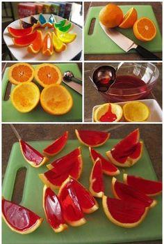 Rainbow Gelatin Orange Wedges ♥